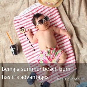 Summer beach bum