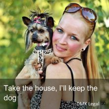 Take the house, I'll keep the dog
