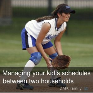 How to manage your kid's schedules between two households